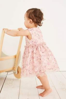 Next Girls Pink Ruffle Dress (3mths-6yrs)