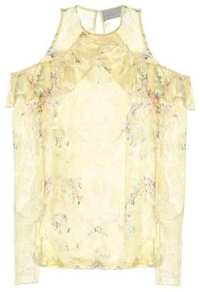 Preen by Thornton Bregazzi Ana printed silk-blend top