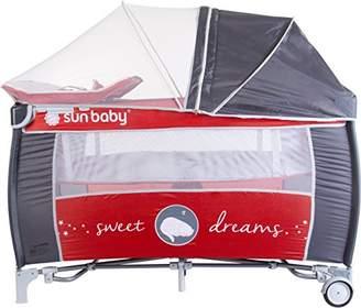 Sun Baby Sweet Dreams Travel Crib, Grey/Red