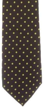 Etro Silk Polka Dot Print Tie