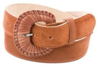 Longchamp Suede Buckle Belt