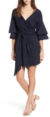 Women's Wayf Portrait Wrap Dress $75 thestylecure.com