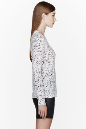Proenza Schouler White Ink spot Print t-shirt