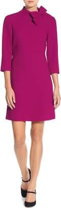 Eliza J Bow Neck Crepe Shift Dress