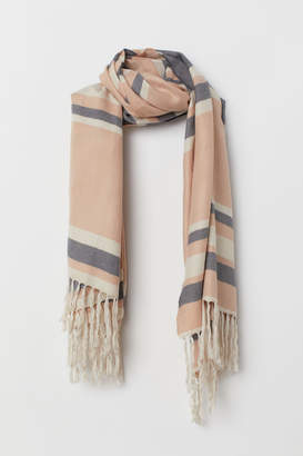 H&M Striped Scarf - Beige