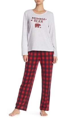 Dearfoams Momma Bear Pajama 2-Piece Set