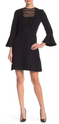 ABS by Allen Schwartz Collection Lace Panel Bell Cuff Dress