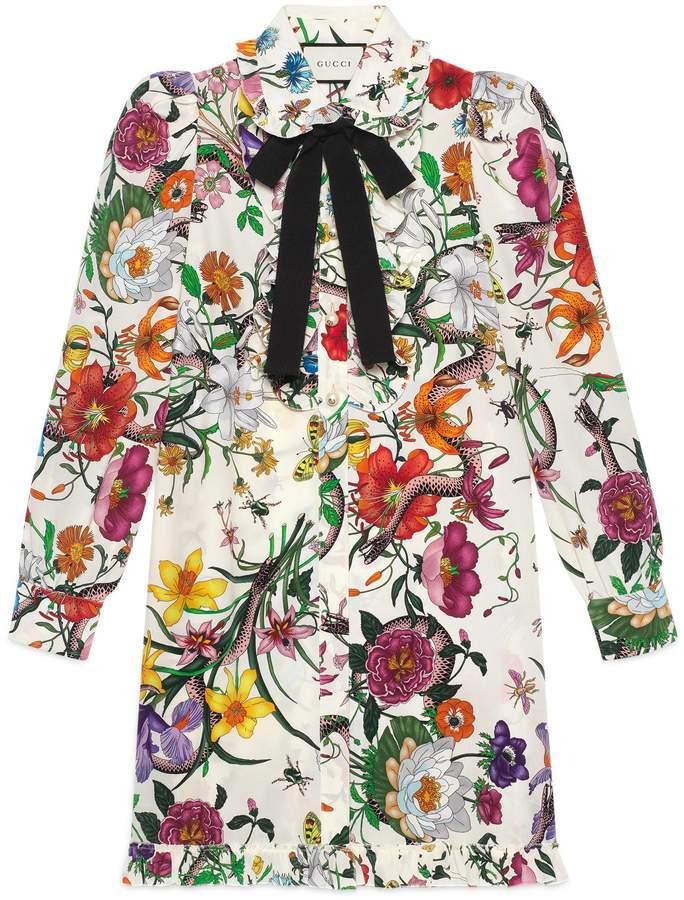 Flora Snake print dress