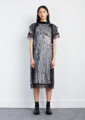 Sacai Sequin Embroidered Dress