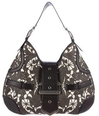 Alexander McQueen Alexander McQueen Leather-Trimmed Canvas Hobo