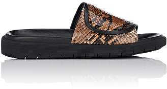 Helmut Lang WOMEN'S PYTHON SLIDE SANDALS