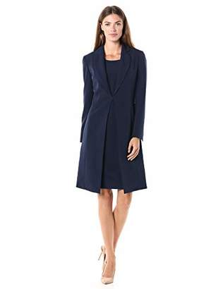 Le Suit Women's Notch Collar Crepe Topper & Sheath Dress Suit
