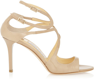 2fbad930da9 ... Jimmy Choo IVETTE Nude Patent Leather Strappy Sandals