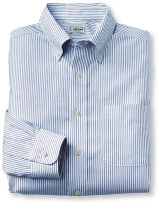 L.L. Bean L.L.Bean Wrinkle-Free Classic Oxford Cloth Shirt, Slightly Fitted University Stripe