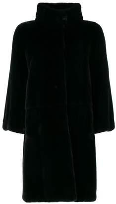 Liska buttoned up fur coat