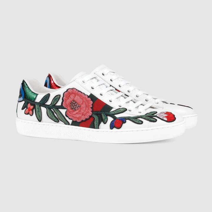 Ace embroidered low-top sneaker 6