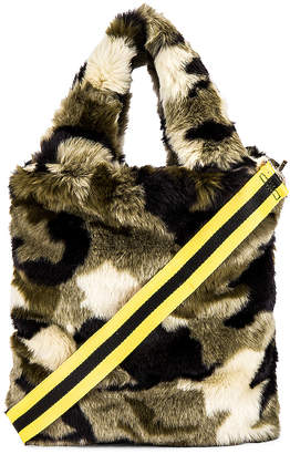 Pam & Gela Camo Faux Fur Bag