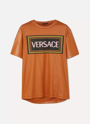 e03e03ad Versace Printed Jersey T-shirt - Orange