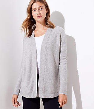 LOFT Petite Shirttail Open Cardigan