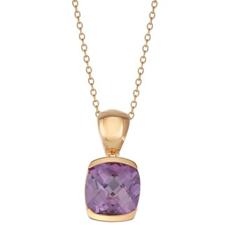14K Rose Gold over Sterling Silver Lab-Created Alexandrite Pendant Necklace