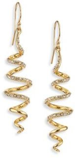 Alexis Bittar Elements Crystal Coil Drop Earrings $145 thestylecure.com
