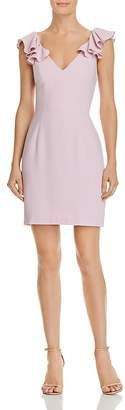 Amanda Uprichard Gimlet Ruffled Cutout Dress