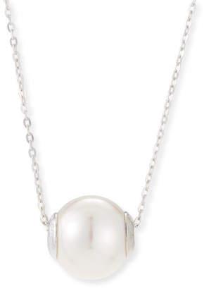 Majorica 12mm Simulated Pearl Pendant Necklace, Silver/White
