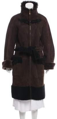 Louis Vuitton Shearling Knee-Length Coat