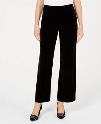 Alfani Petite Velvet Wide-Leg Pants