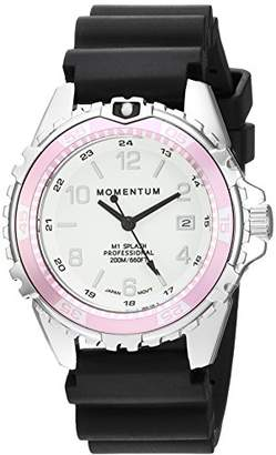 Momentum Women's Quartz Watch | M1 Splash by Momentum| Stainless Steel Watches for Women | Dive Watch with Japanese Movement & Analog Display | Water Resistant ladies watch with Date –Lume / Pink Rubber