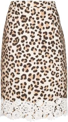 Blumarine leopard print pencil skirt