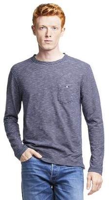 Todd Snyder Long Sleeve Striped T-Shirt in Navy