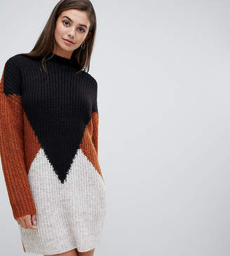 Y.A.S Tall Y..A.S Tall oversize color block knitted sweater
