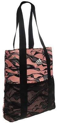 adidas Womens Shopper Bag Zip Mesh Pattern Sport