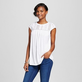 Merona Women's Fairytale Lace Shell Top $17.99 thestylecure.com