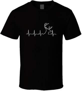 Hunter Trendy Tees Hunting Heartbeat Deer Hunt T-Shirt Outdoor Sports Buck Gift T Shirt New XL