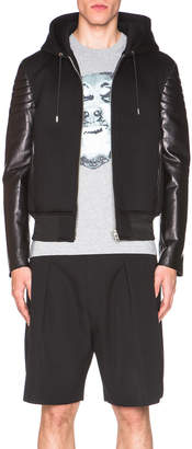 Givenchy Leather & Neoprene Hoodie $3,185 thestylecure.com