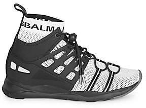 Balmain Men's Cameron Caged Mesh Technical Sneakers