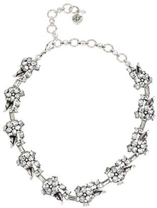 Betsey Johnson Something New Flower Collar Necklace