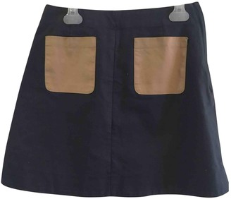Cos Blue Cotton Skirt for Women
