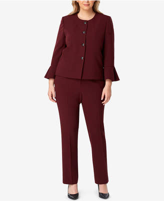 Tahari ASL Plus Size Bell-Sleeve Pantsuit