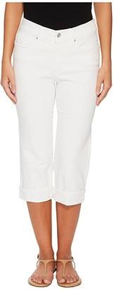 NYDJ Petite Petite Marilyn Crop Cuff in Optic White