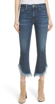 Frame Le Crop Mini Boot Shredded Crop Hem Jeans