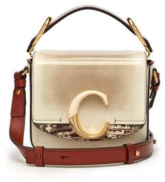 Chloé The C Mini Leather Cross Body Bag - Womens - Grey Multi