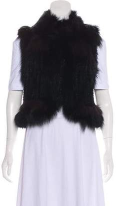 Elizabeth and James Fur Shawl Collar Vest