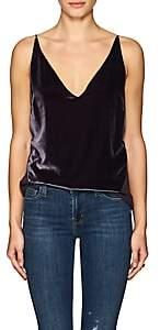 J Brand Women's Lucy Velvet & Silk Georgette Cami - Dk. Purple
