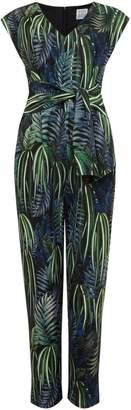 Linea Sadie printed tie front jumpsuit