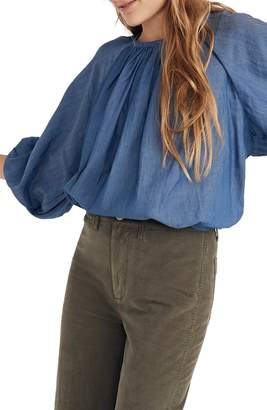 Madewell Denim Tie Back Top