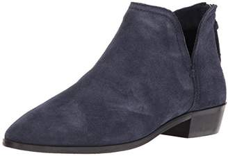 Kenneth Cole Reaction Women's Loop There It is Flat Ankle Notch Bootie Suede
