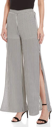 Necessary Objects Striped Vented Wide Leg Pants